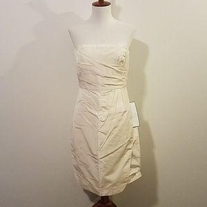NWT Jcrew ivory silk taffeta strapless dress